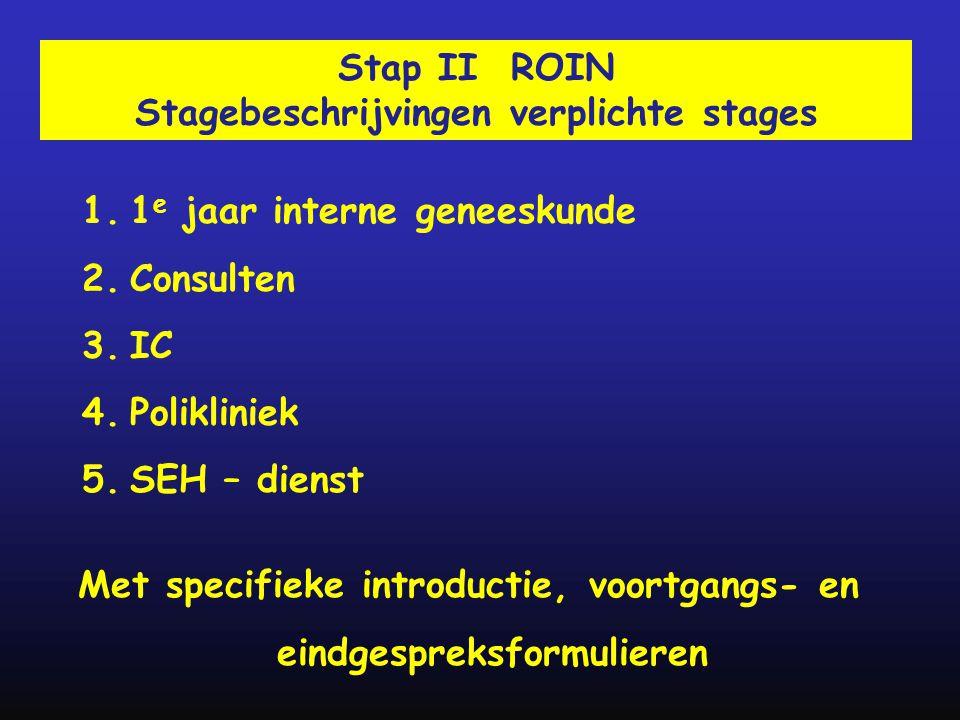 Stagebeschrijvingen verplichte stages