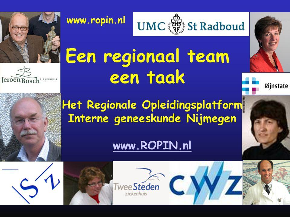 Een regionaal team een taak