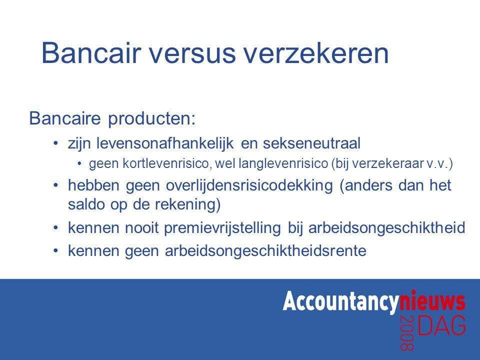 Bancair versus verzekeren