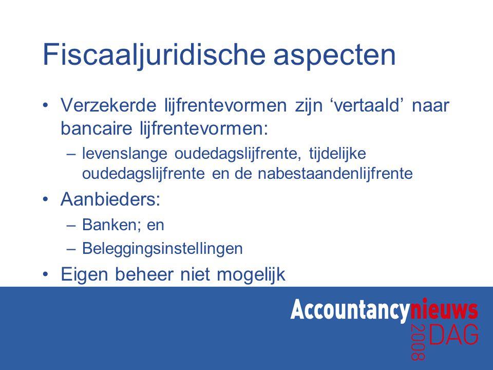 Fiscaaljuridische aspecten