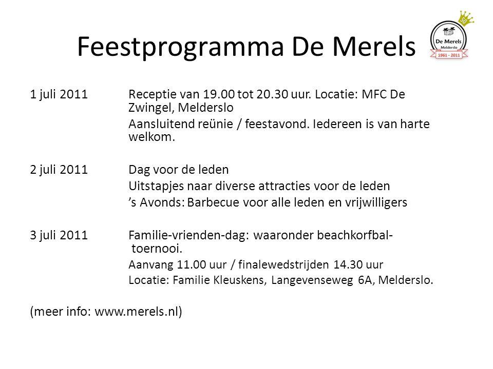 Feestprogramma De Merels