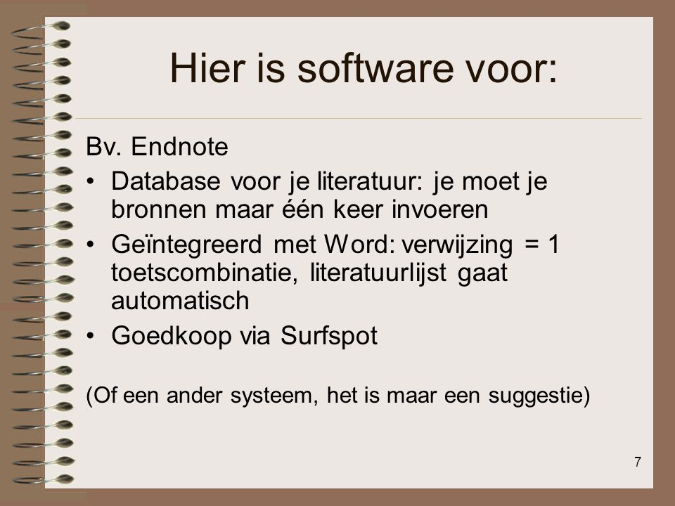 Hier is software voor: Bv. Endnote