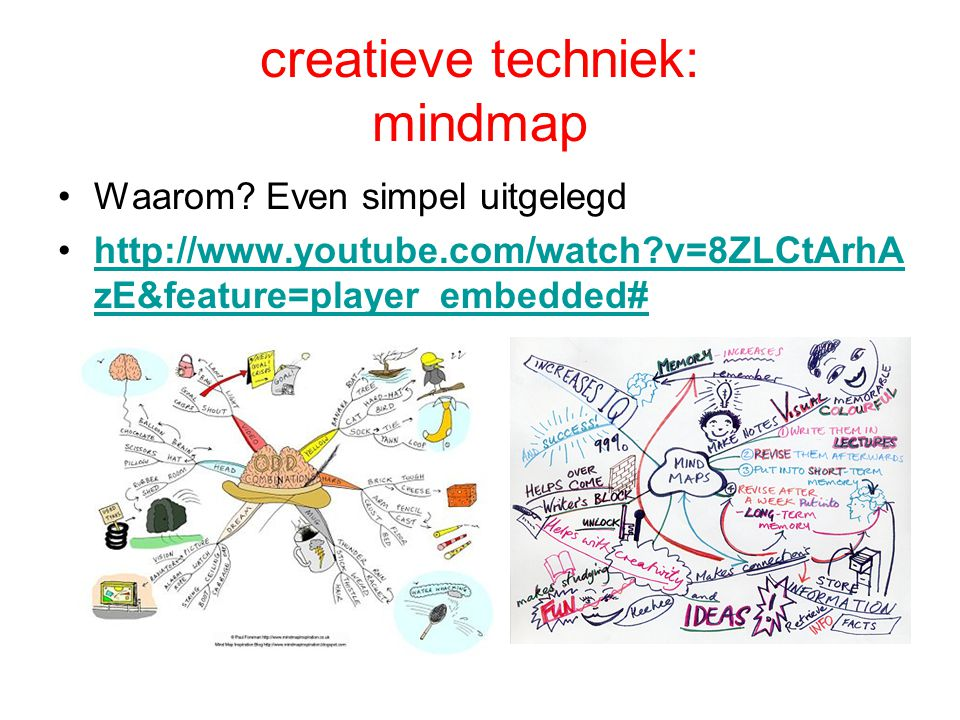 creatieve techniek: mindmap