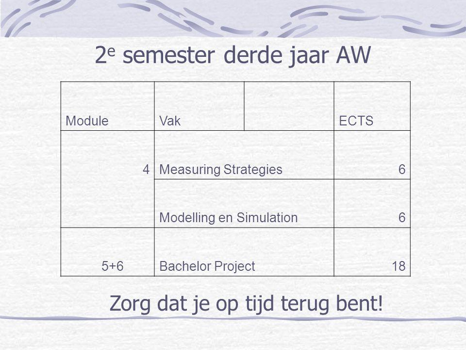2e semester derde jaar AW