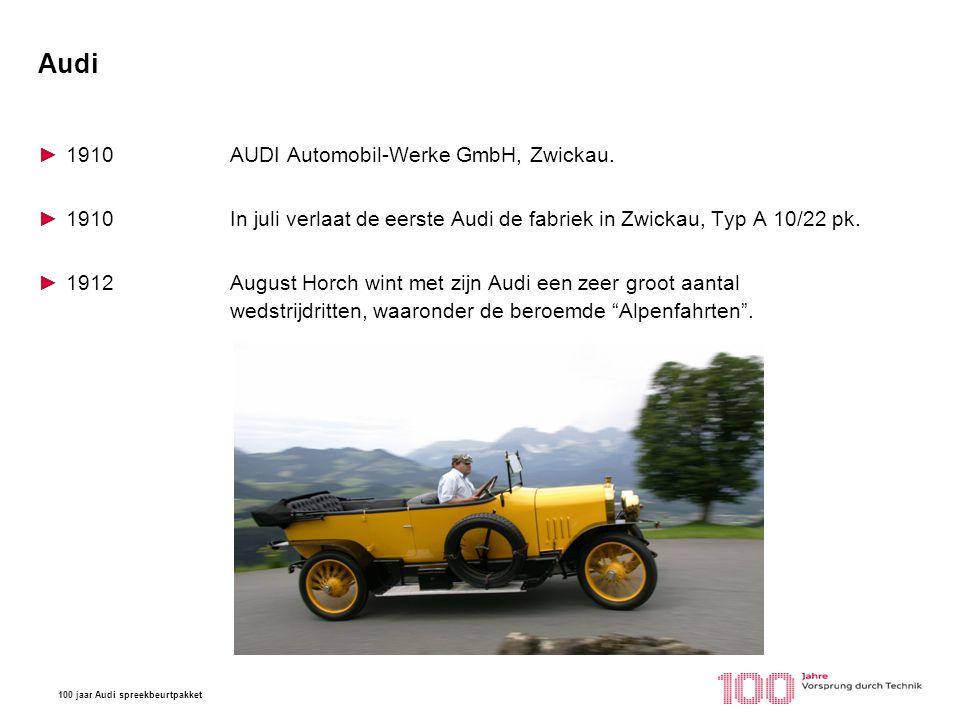 Audi 1910 AUDI Automobil-Werke GmbH, Zwickau.