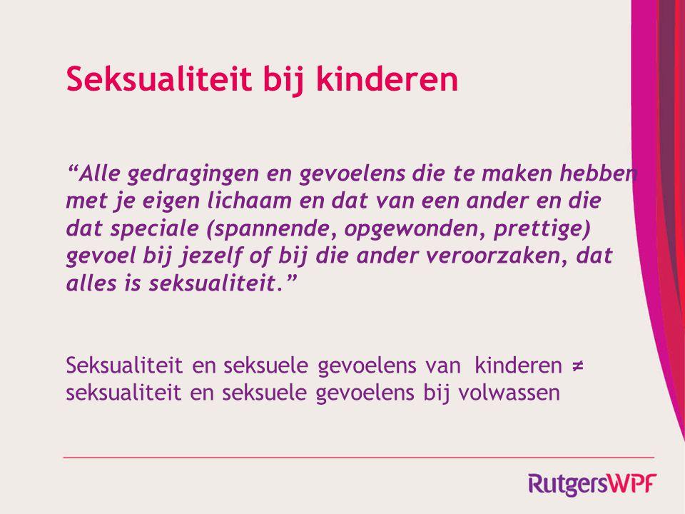 Seksualiteit bij kinderen
