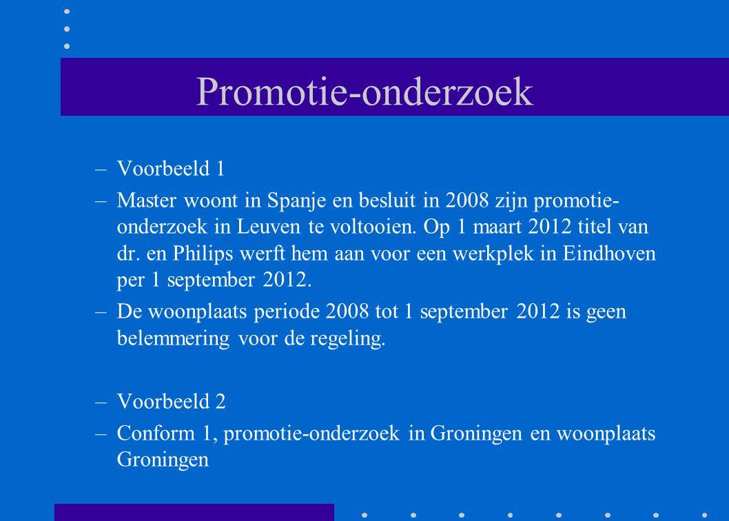 Promotie-onderzoek Voorbeeld 1