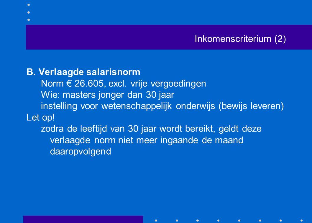 Inkomenscriterium (2)