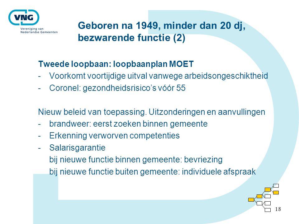 Geboren na 1949, minder dan 20 dj, bezwarende functie (2)