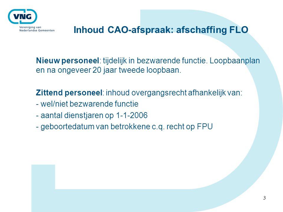 Inhoud CAO-afspraak: afschaffing FLO
