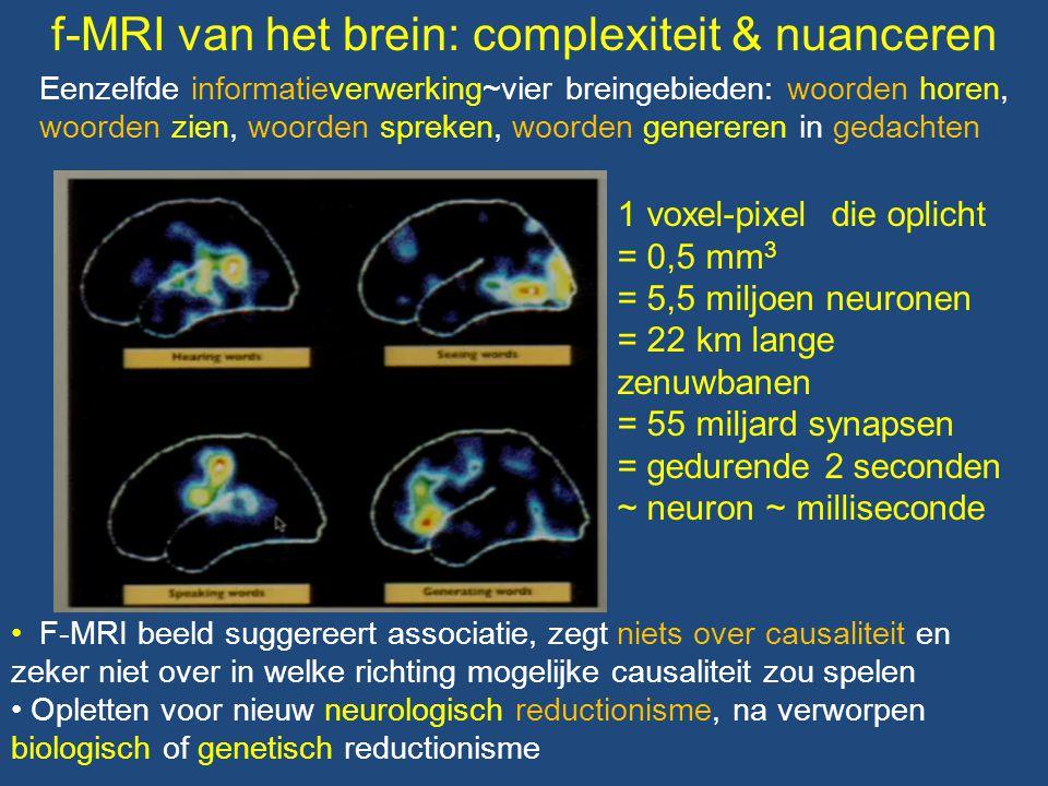 f-MRI van het brein: complexiteit & nuanceren