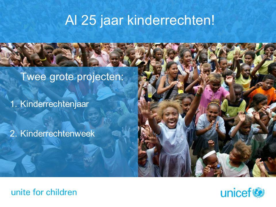 Al 25 jaar kinderrechten! Kinderrechtenjaar Kinderrechtenweek