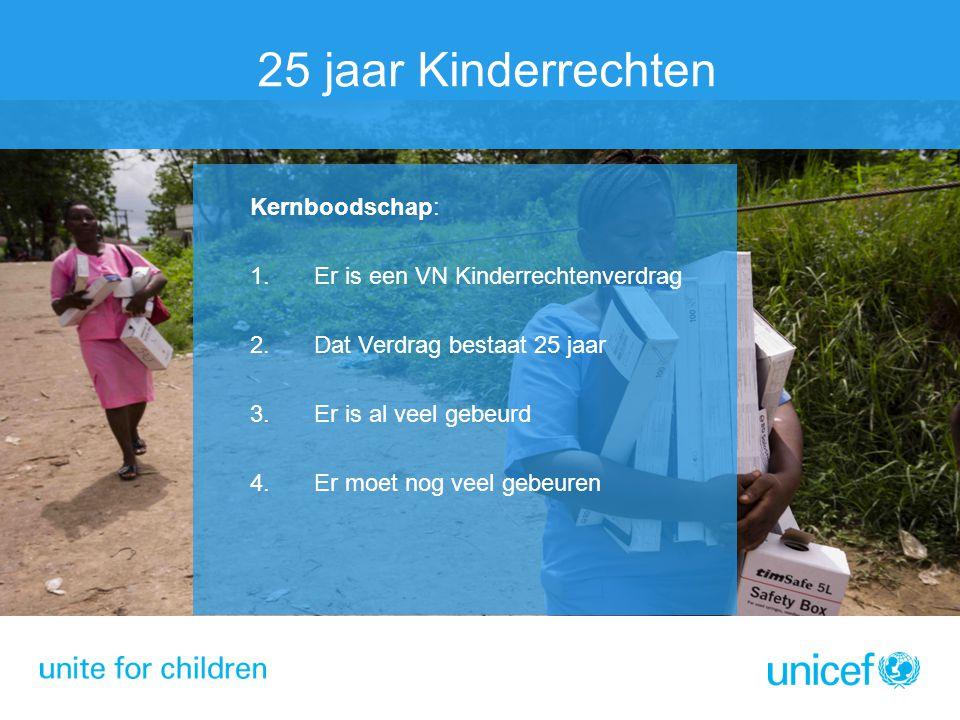 25 jaar Kinderrechten Kernboodschap: Er is een VN Kinderrechtenverdrag