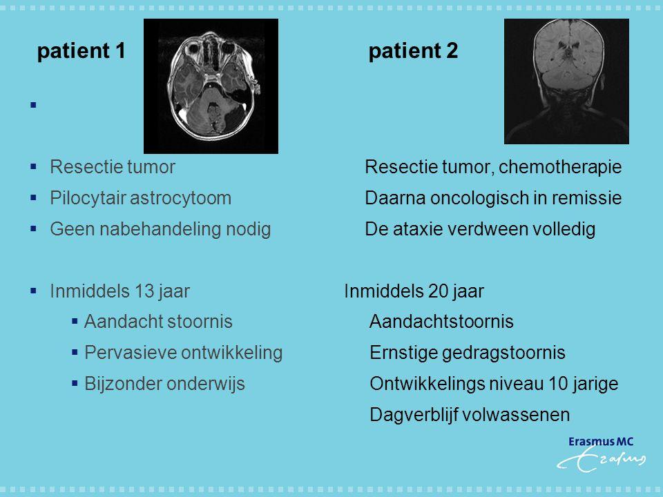 patient 1 patient 2 Resectie tumor Pilocytair astrocytoom