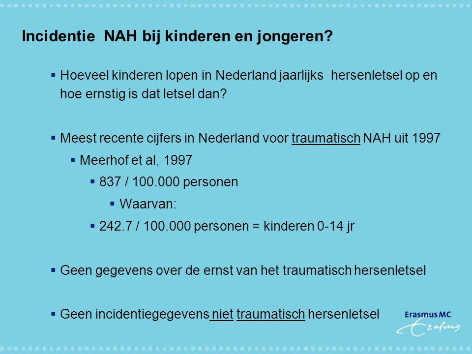 Incidentie NAH bij kinderen en jongeren
