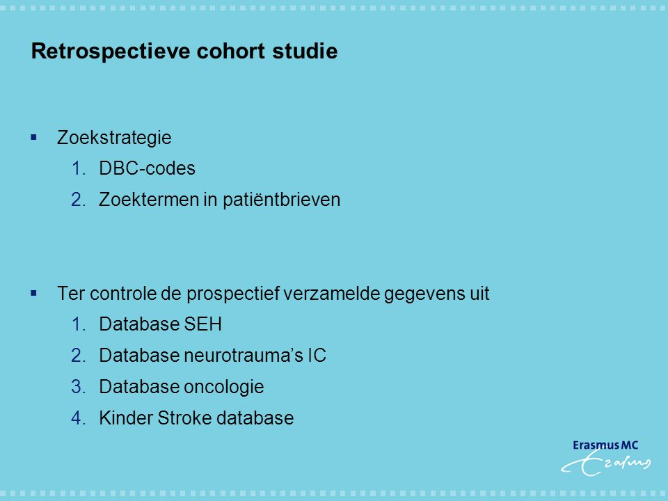Retrospectieve cohort studie