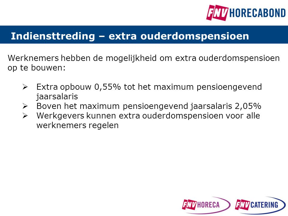 Indiensttreding – extra ouderdomspensioen