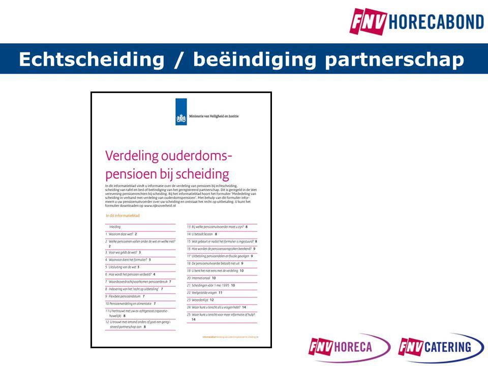 Echtscheiding / beëindiging partnerschap