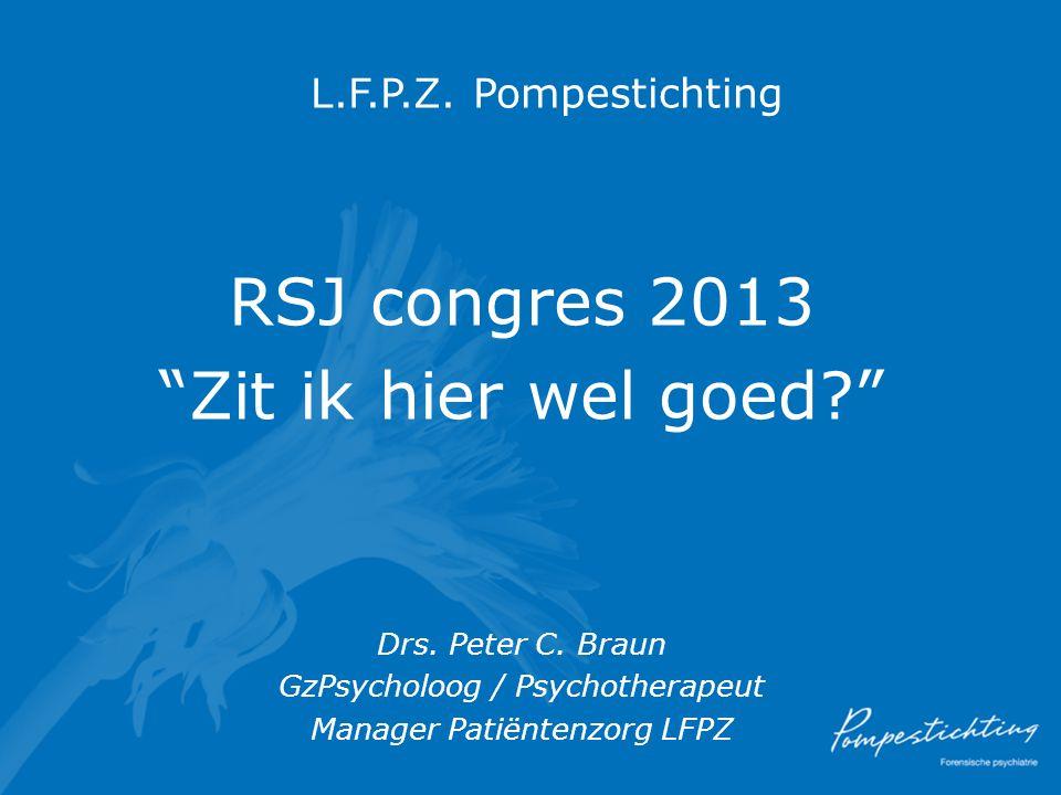 RSJ congres 2013 Zit ik hier wel goed L.F.P.Z. Pompestichting