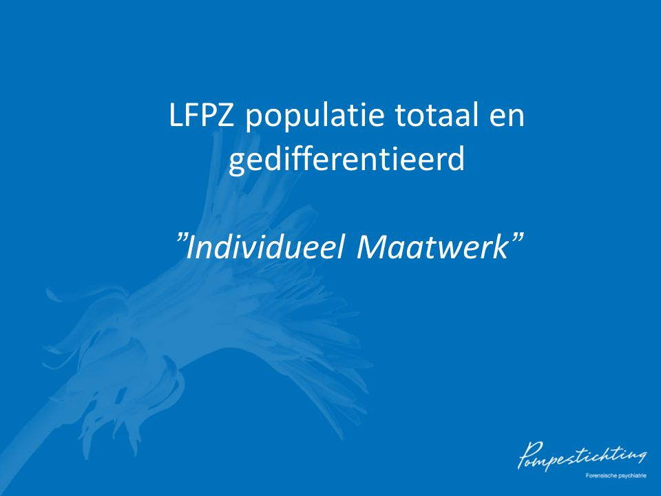 LFPZ populatie totaal en gedifferentieerd