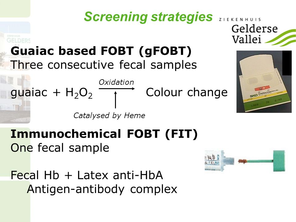 Screening strategies Guaiac based FOBT (gFOBT)