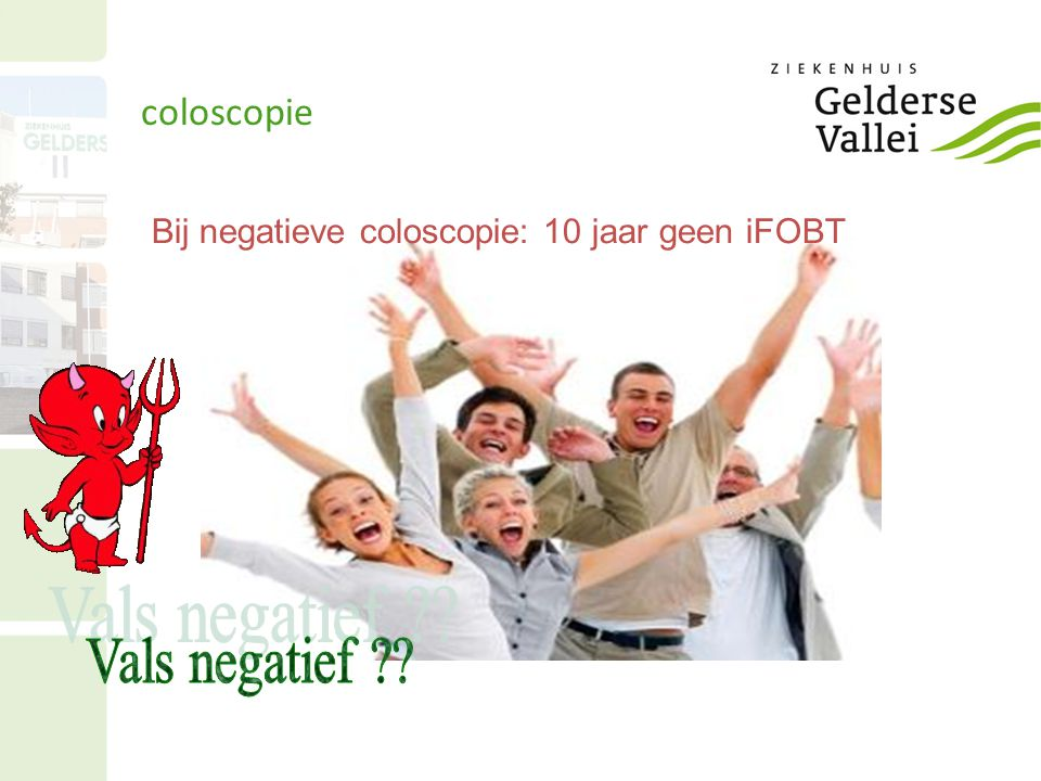 Bij negatieve coloscopie: 10 jaar geen iFOBT