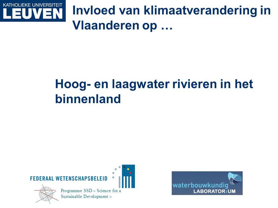 Hoog- en laagwater rivieren in het binnenland