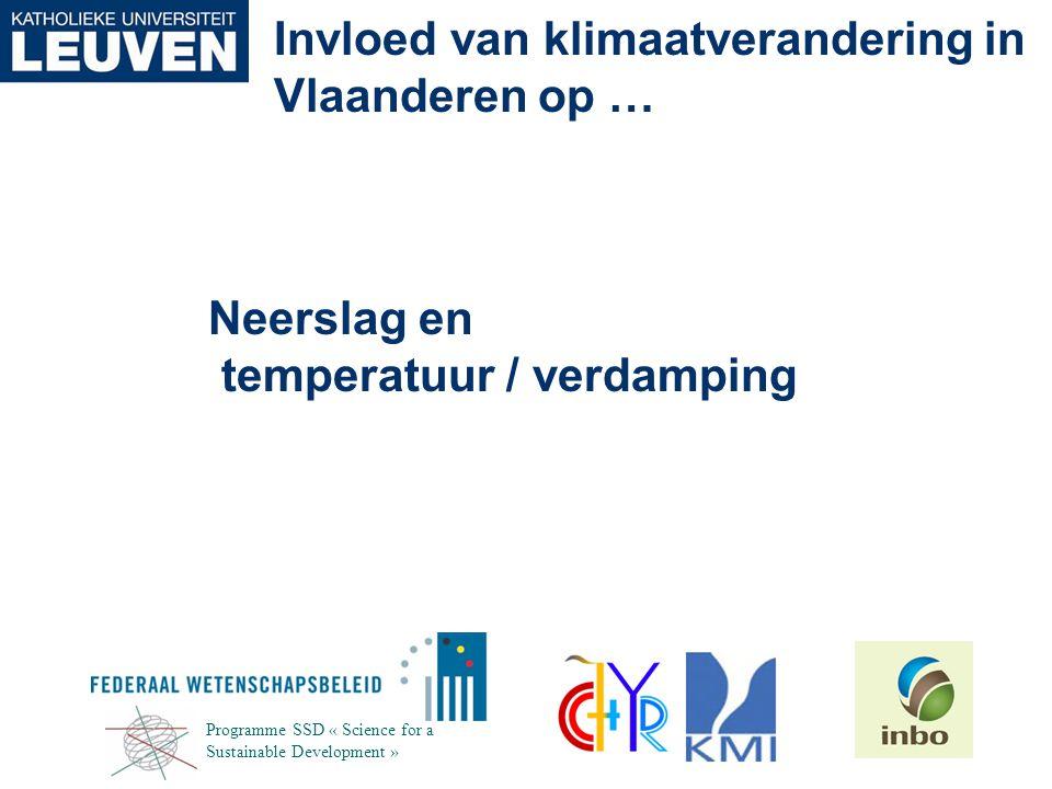 Neerslag en temperatuur / verdamping