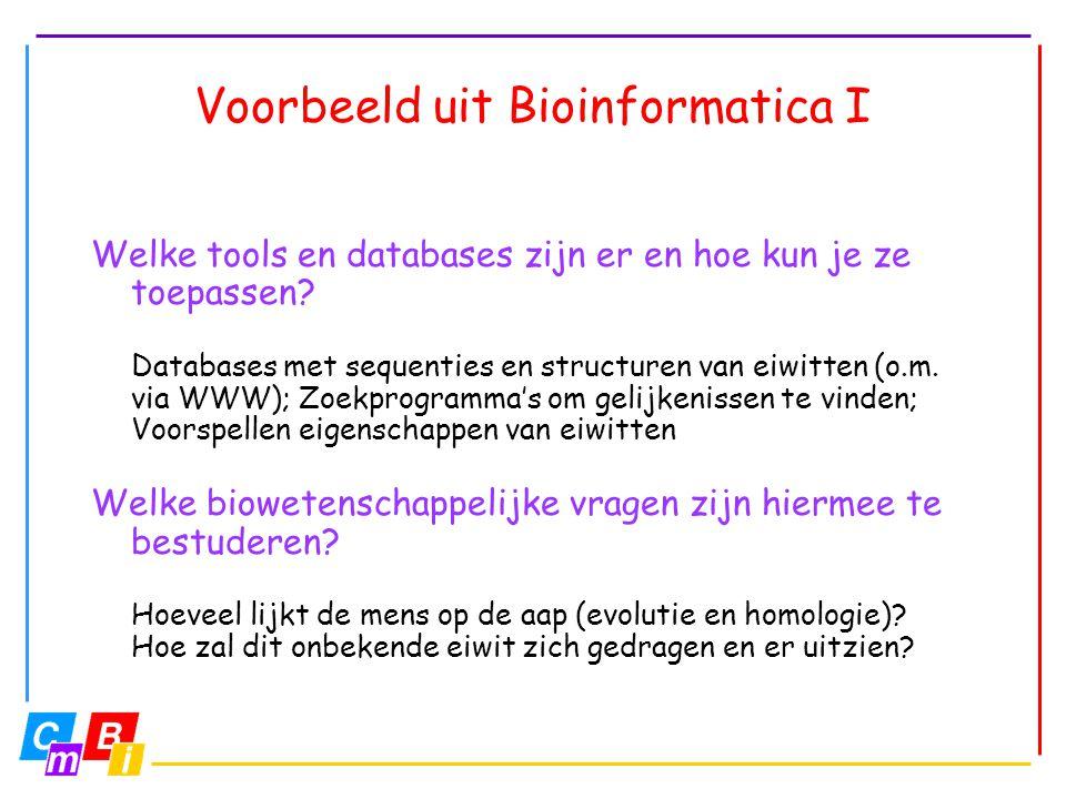 Voorbeeld uit Bioinformatica I