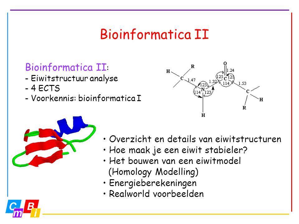 Bioinformatica II Bioinformatica II: