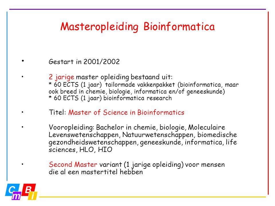 Masteropleiding Bioinformatica