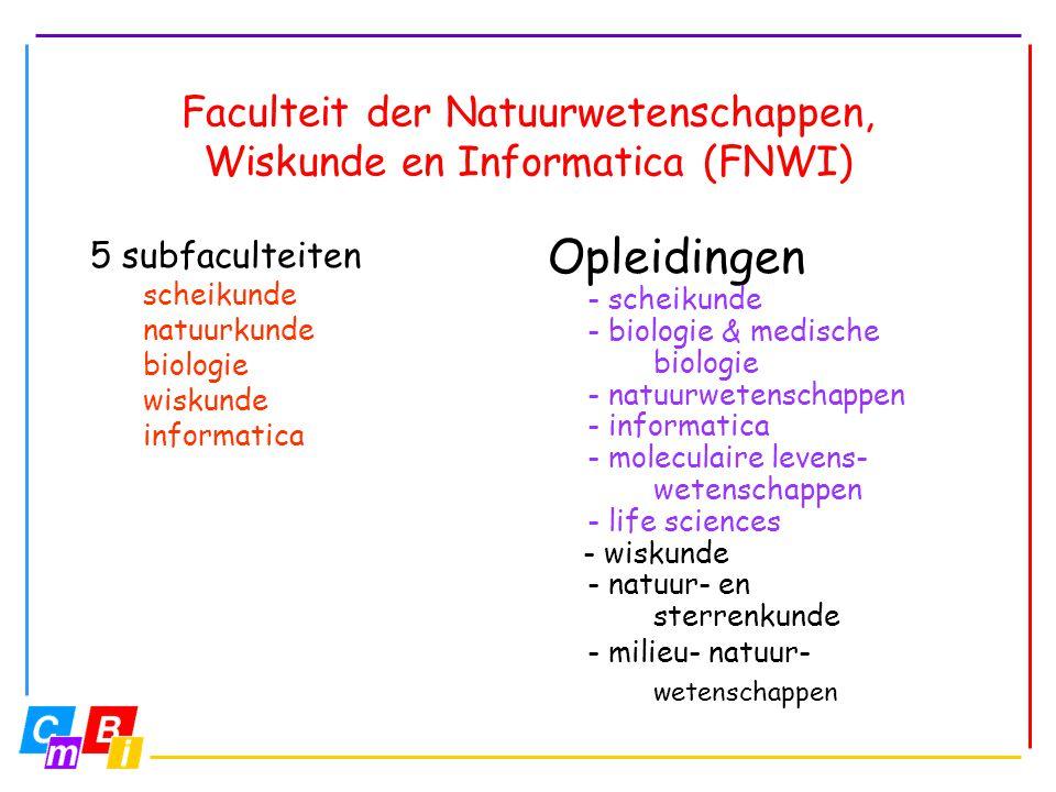 Faculteit der Natuurwetenschappen, Wiskunde en Informatica (FNWI)