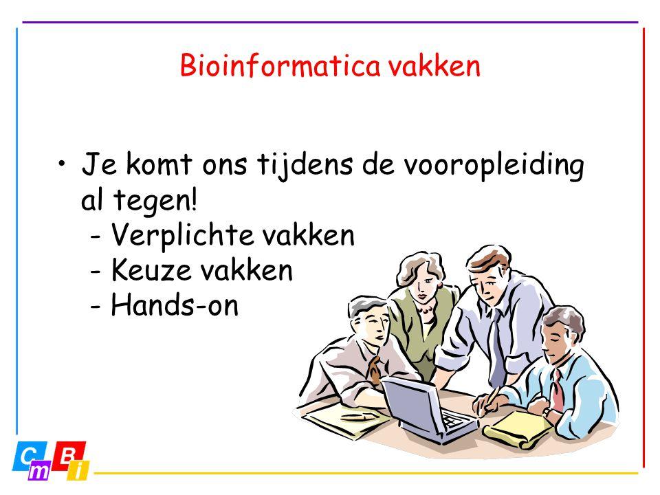 Bioinformatica vakken