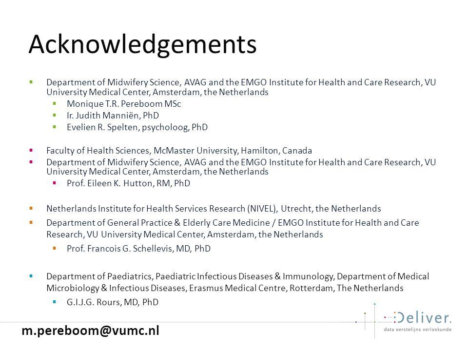 Acknowledgements m.pereboom@vumc.nl