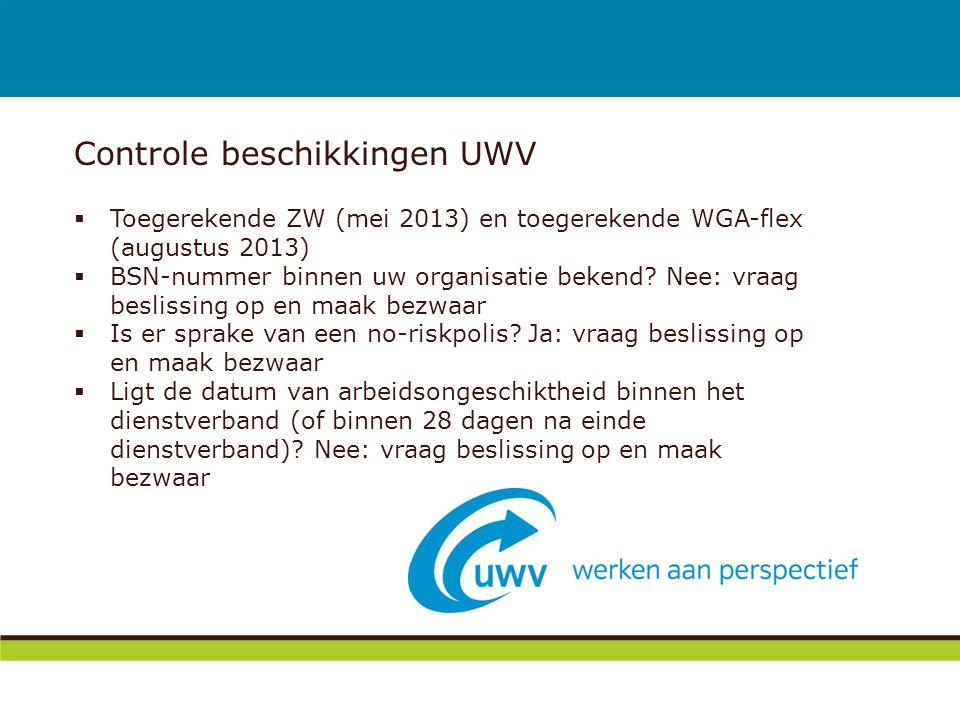 Controle beschikkingen UWV