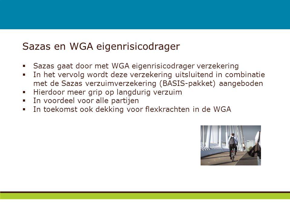 Sazas en WGA eigenrisicodrager