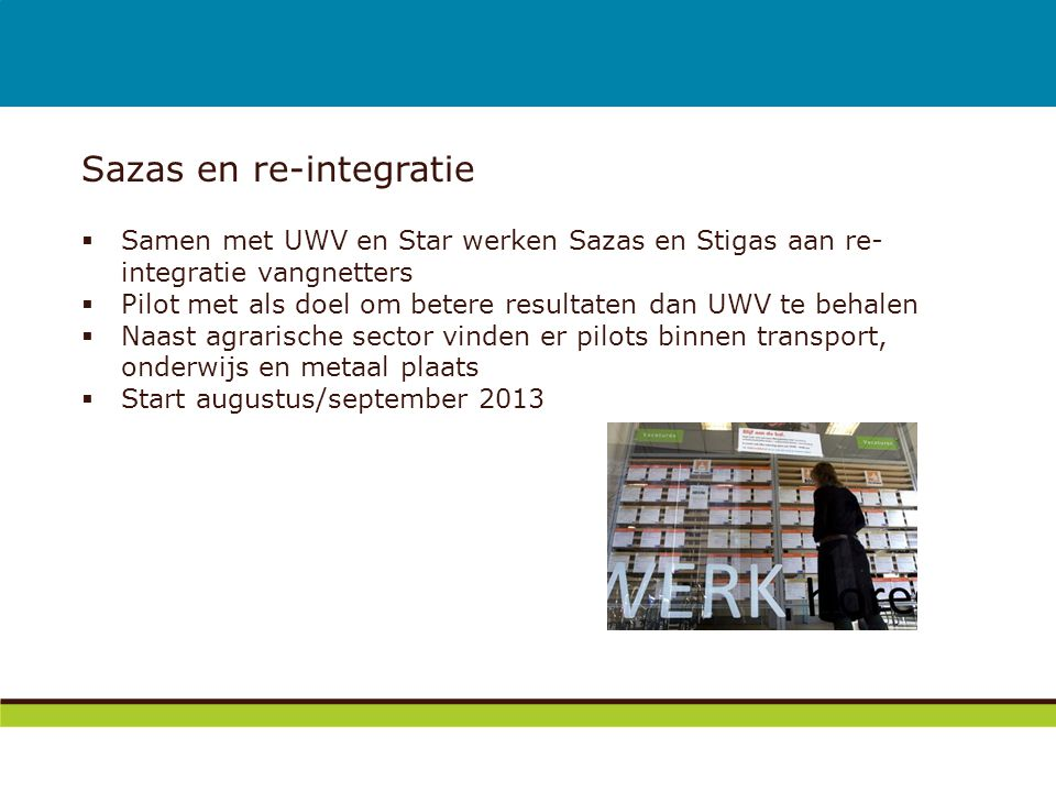 Sazas en re-integratie