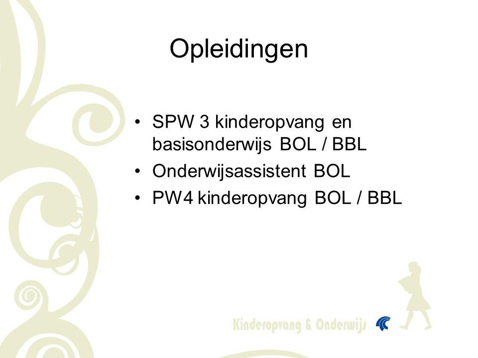 Opleidingen SPW 3 kinderopvang en basisonderwijs BOL / BBL