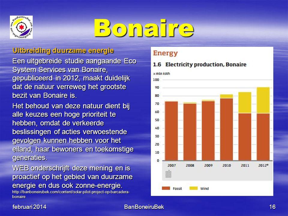Bonaire Uitbreiding duurzame energie