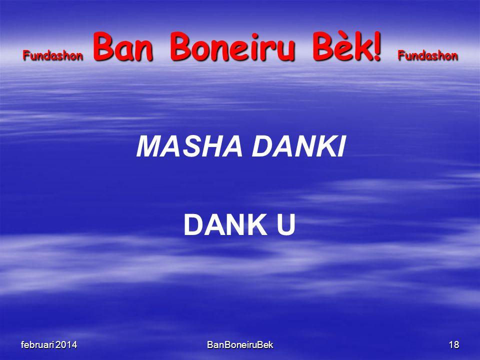 Fundashon Ban Boneiru Bèk! Fundashon