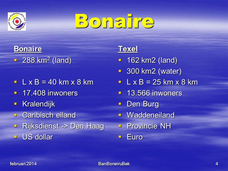 Bonaire Bonaire Texel 288 km2 (land) L x B = 40 km x 8 km