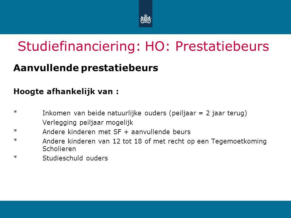 Studiefinanciering: HO: Prestatiebeurs