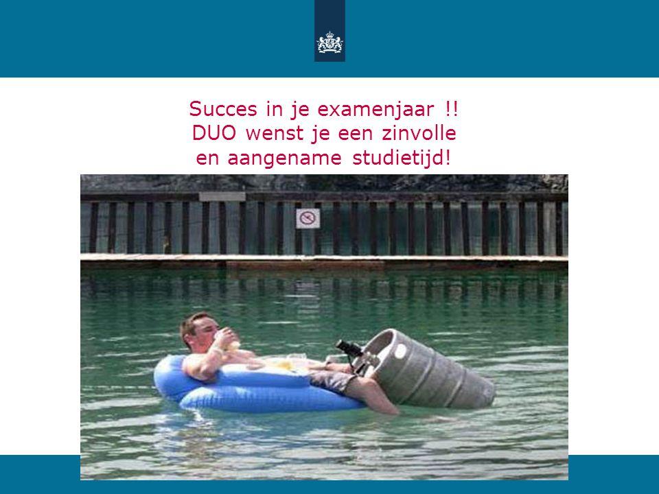 Succes in je examenjaar