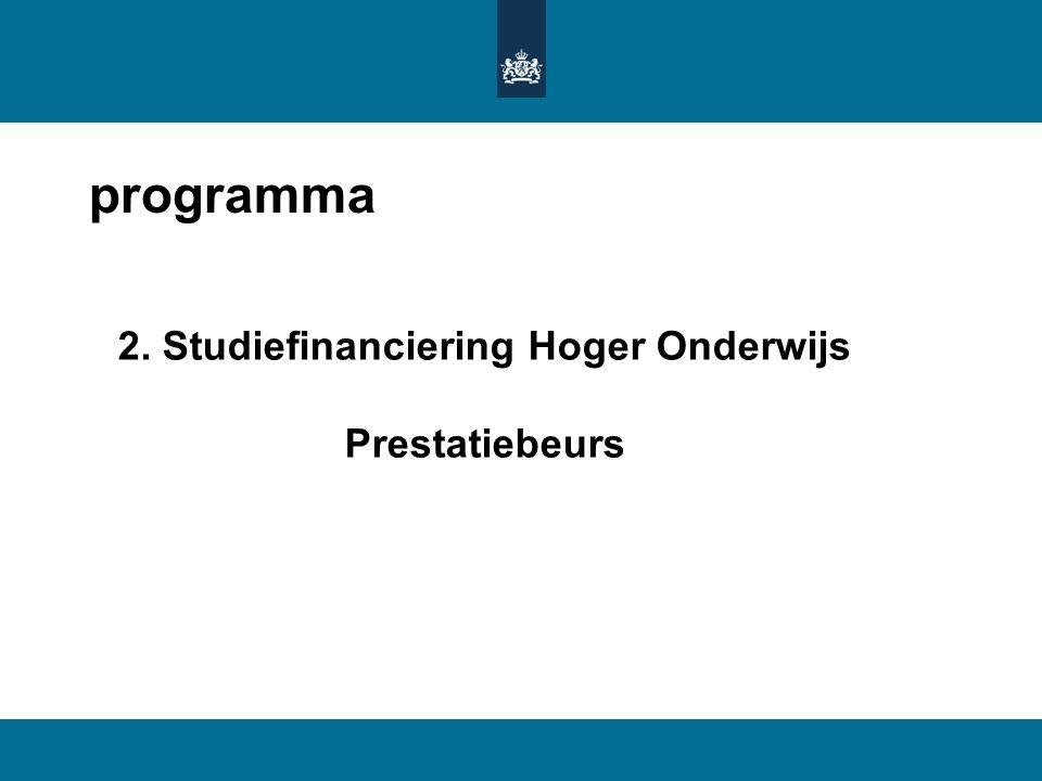 2. Studiefinanciering Hoger Onderwijs