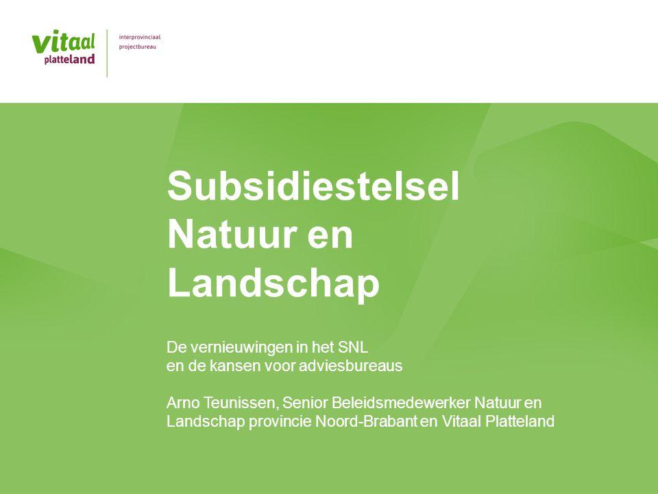 Subsidiestelsel Natuur en Landschap