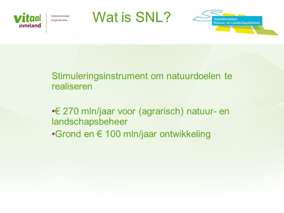 Wat is SNL Stimuleringsinstrument om natuurdoelen te realiseren