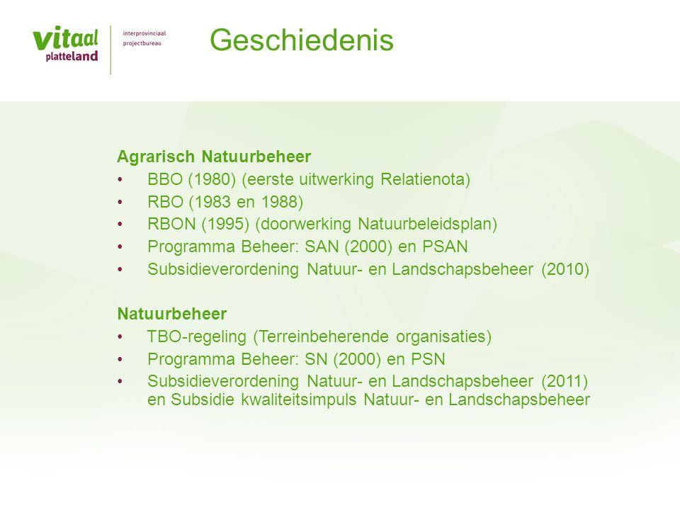Geschiedenis Agrarisch Natuurbeheer