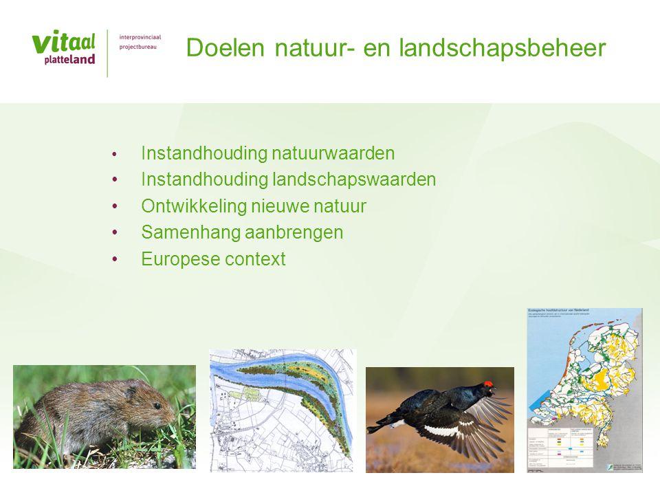 Doelen natuur- en landschapsbeheer