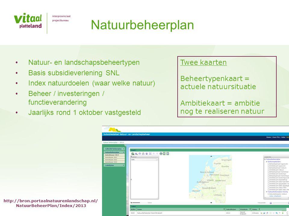Natuurbeheerplan Natuur- en landschapsbeheertypen