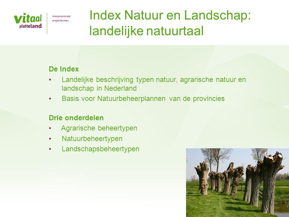 Index Natuur en Landschap: landelijke natuurtaal
